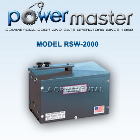 model rsw 2000 swing gate opener, powermaster rsw residential powermaster gate operator wiring diagram at gsmx.co