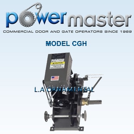 PowerMaster CGH-102, 1 HP, 208V /230V , 1 Phase, Industrial Duty Hoist Center Mounted Gearhead
