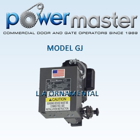 PowerMaster GJ-52, 1/2 HP, 208V /230V , 1 Phase, Industrial Duty Hoist Type JackShaft Operator for Carwash