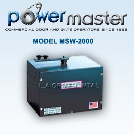 Powermaster MSW Heavy Residential or Light Commercial Swing Gate Operator