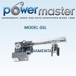 PowerMaster GSL-154, 1 1/2 HP, 460V , 3 Phase, Continous Duty Gear Reduced Slide Door Operator