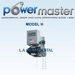PowerMaster H-104, 1 HP, 460V , 3 Phase, V-Belt Industrial Duty Hoist Type Operator
