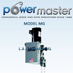 PowerMaster MG-73, 3/4 HP, 208V /230V , 3 Phase, Industrial Duty Gear Reduced Hoist Operator