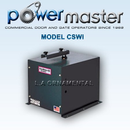 Powermaster CSWI-2004 1HP 230-208 Volt 3 Phase Heavy Duty Commercial Swing Gate Operator